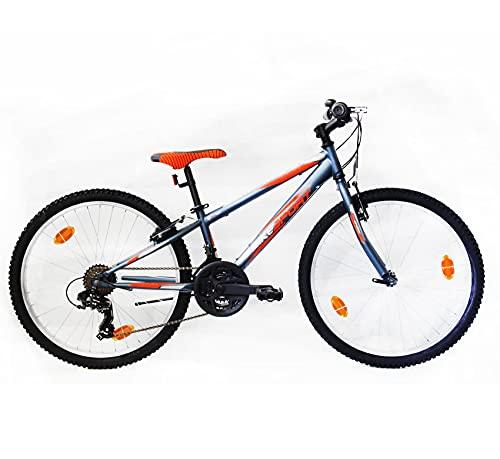 BIKE SPORT LIVE ACTIVE Bikesport Rocky 24' - Bicicleta de montaña para niño niña, Shimano 18