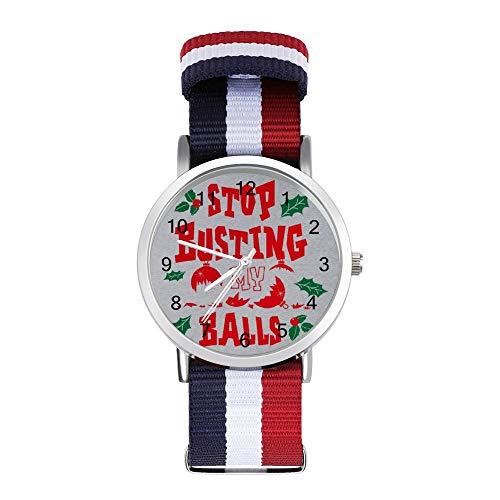 Montre tressée avec bracelet de loisirs Motif boules de Noël