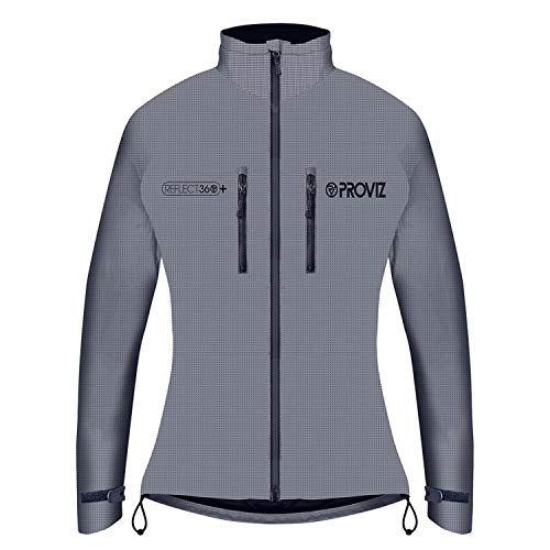 Proviz Womens Reflective Cycling Jacket Silver Size 10
