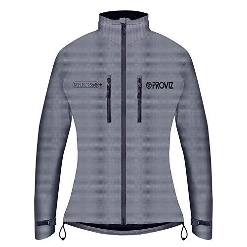 Proviz Damen Jacke Reflect 360+, Silber-Grau, 10, PV799