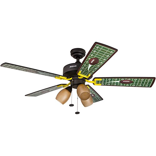 Honeywell Touchdown 48-Inch Football Ceiling Fan with Amber...