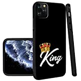 King iPhone 11 Pro Max Phone Case Black TPU Protective case Shockproof Non-Slip Soft Designed King case for iPhone 11 Pro Max