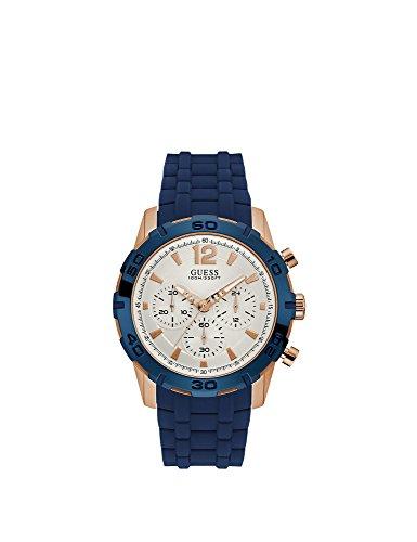 Guess heren chronograaf kwarts horloge met siliconen armband W0864G5
