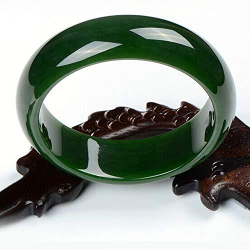 KTT Chinesische Spinat grüne Jade Armband Frauen natürliche Edelsteine heilende Energie echte Armreif,54-56