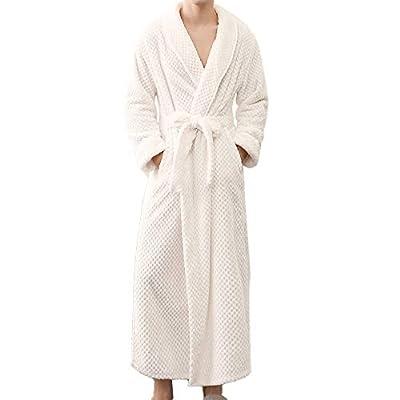 POQOQ Sleepwear Men&Women Winter Bathrobe Home Clothes Shawl Long Sleeved Robe