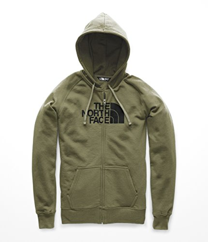 The North Face Women's Half Dome Full Zip Hoodie - Four Leaf Clover & TNF Black - S