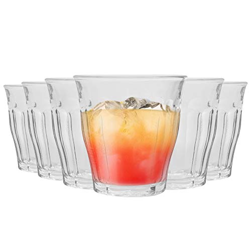DURALEX, Bicchieri Modello Picardie, in Stile Tradizionale, per Acqua/Succo, da 250 ml - Set da 12