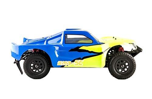 RC Auto kaufen Short Course Truck Bild 2: LC-Racing Mini Brushed Off-Road Short Curse Truck 1:14 RTR EMB-SCL | das perfekte Fahrzeug zum Einstieg in den RC-Car Sport | Brushed Antrieb | ca. 30 Km/h schnell | 4-Rad Antrieb | komplett Kugelgelagert | Öldruckstoßdämpfer einstellbar | Aluminium Kardanwelle | gekapselter Antrieb | Carbon Tuningteile erhältlich | Schnellladegerät und Fahrakku inklusive | diverse Umbaumöglichkeiten | viele Tuningteile erhältlich | Umbau auf Brushless möglich | sehr stabil durch Nylonkunststoff*