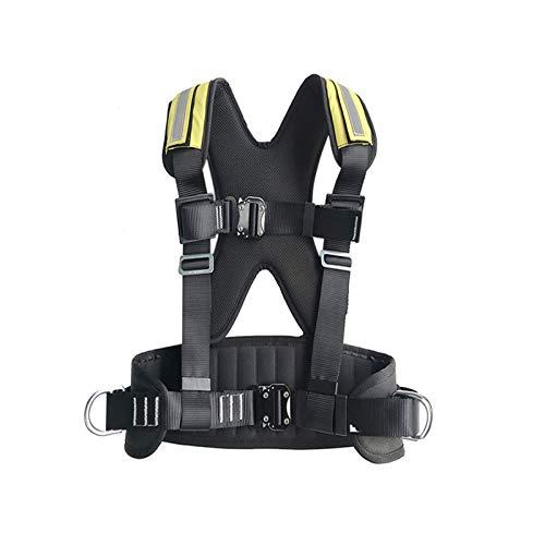 ljyasd Cintura Sicurezza Regolabile, Imbracatura Arrampicata per Parte Superiore Corpo, Imbracatura Stile Gilet, Protezione Anticaduta, con Anello A D Posteriore, Taglia Universali