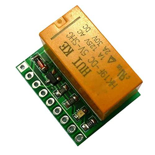 Módulo de conmutador de relé de señal de 5V Junta DPDT canales duales Selector de polaridad inversa Componentes Partes Orange, Relay