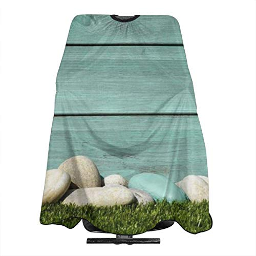 A Heap of Stones On The Grass Personalized Custom Professional Friseursalon-Schürze, Polyester Hair Shawl 55