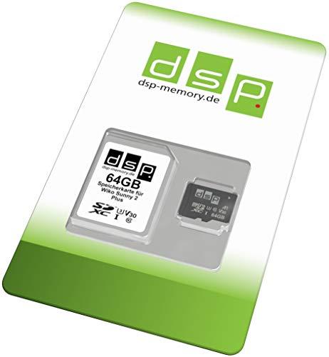 Tarjeta de Memoria de 64 GB (A1, V30, U3) para Wiko Sunny 2 Plus