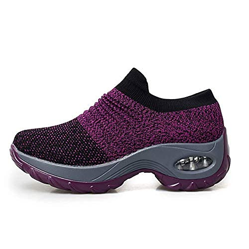 Women's Walking Shoes Sock Sneakers -...