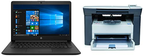 HP 14 (i5/8GB/256GB SSD/Win 10/MS Office), 14-cs1002TU + HP Laserjet M1005 Multifunction Monochrome Laser Printer
