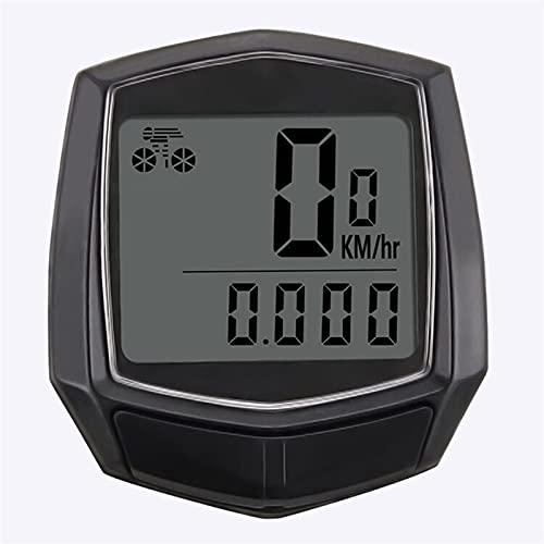 YZDKJ Computadoras de Ciclismo a Prueba de Agua Computadoras de Ciclismo de Bicicleta Velocímetro con Cable a Prueba de Agua Control de cronómetro Odómetro LCD Retroiluminación Negro