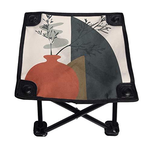 V H - Silla plegable pequeña, portátil, ligera, banco Oxford al aire libre para camping, pesca, senderismo