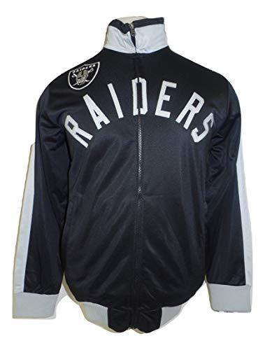 Raiders Football Men's Black/Silver Full Zip Track Jacket-567-2XL
