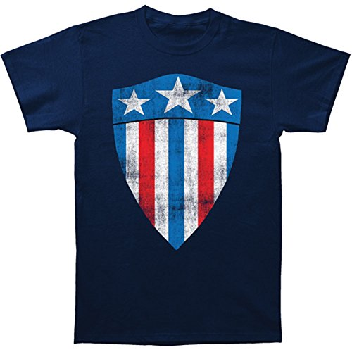 Captain America Original Shield 30s T-Shirt- Small Blue