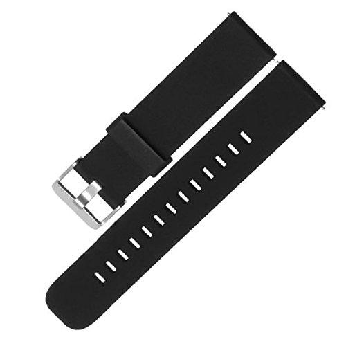 Adallor 18, 20, 22mm Bracelet Silicone Montre, Haute qualité Replacement Bande Bracelet Chaîne de Montre avec Fermoir en Métal Réglable pour Femme et Homme, Pack of 1 Or 3
