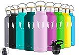 Super Sparrow Trinkflasche Edelstahl Wasserflasche - 500ml- Isolier Flasche mit Perfekte Thermosflasche für das Laufen, Fitness, Yoga, Im Freien und Camping | Frei von BPA