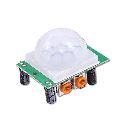 Tenflyer HC-SR501 Module de Capteur de Mouvement Module PIR Motion Humaine Mini Module Détecteur IR Infrarouge