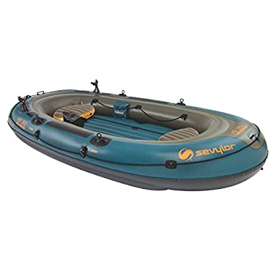 2000020579 Sevylor Fish Hunter 360 6-Person Fishing Boat with Berkley Rod Holder by The Coleman Company, Inc.