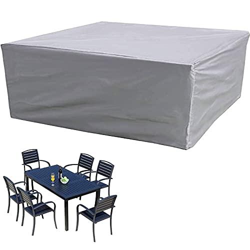 BKPH Funda Impermeable para Muebles de Exterior, Funda de Mesa Exterior de Tela Oxford Duradera 420D, Anti-Ultravioleta Funda Rectangular a Prueba de Viento a Prueba De Polvoy