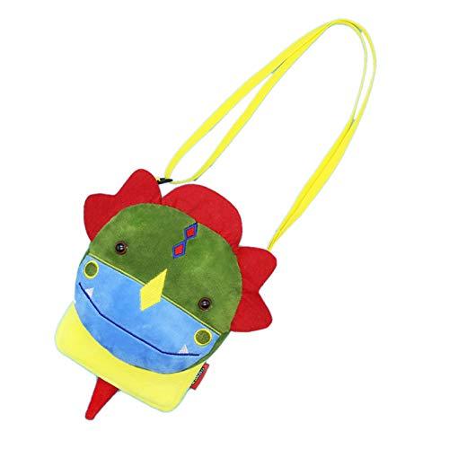 Elonglin Kinder Umhängetasche Geldbörse Schlüsselbeutel Kindertasche Schultertasche als Geschenk Cartoon Tier mini-15 * 3 * 19cm (L*B*H) Cartoon-Dinosaurier