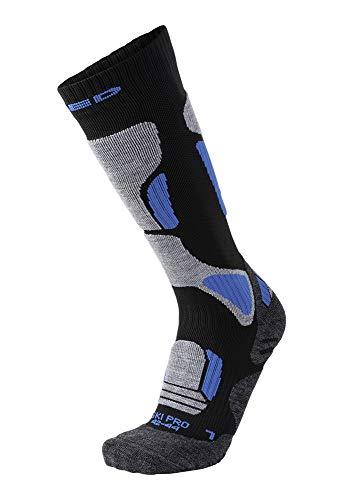 XAED, calzini da sci, da uomo, colore nero/blu, taglia 42/44, calzini uomo