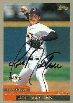 Joe Nathan autographed Baseball Card (San Francisco Giants) 1999 Topps #156 - Autographed Baseball Cards