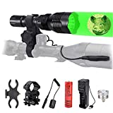 Rechargeable Torch Red Green Hunting Flashlight,...