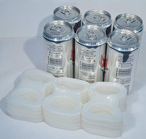 TFD Supplies Plastic 6-Pack Rings For Beer and Soda 2,000 ea Bulk Wholesale - Precut