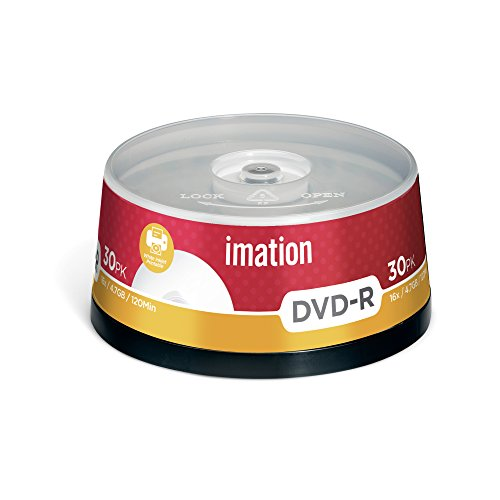 Imation i22373 - Pack de 30 DVD -R, 4.7 GB, 16X, Negro