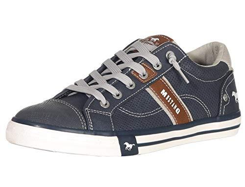 MUSTANG Herren 4072-301 Sneaker, Blau (800 dunkelblau), 45 EU