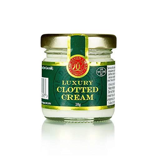 Englische Clotted Cream, feste Rahm-Creme, 56% Fett, 28g