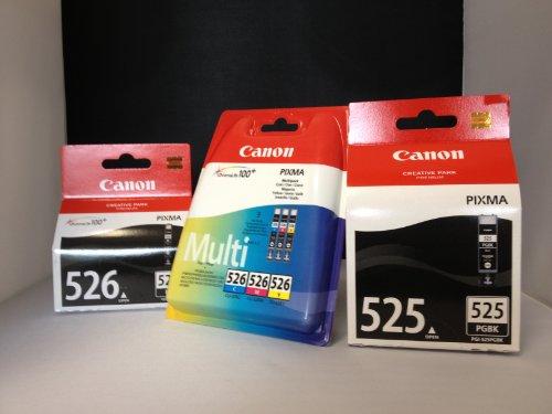 5 Original Canon Druckerpatronen (BK/PBK/C/Y/M) für Canon Pixma IP 4850 Tintenpatronen