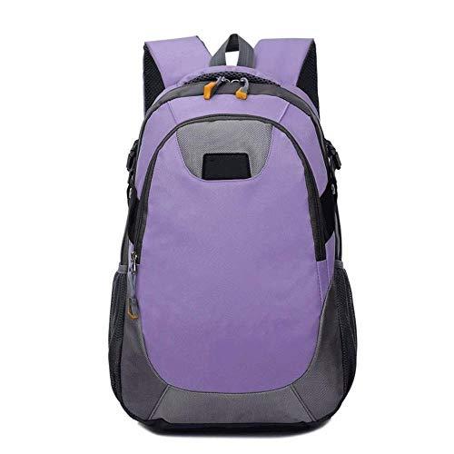 HONGYU Sac de Trekking, Sac à Dos de randonnée 35L Sac à Dos de Voyage Durable (Couleur : Light Purple)