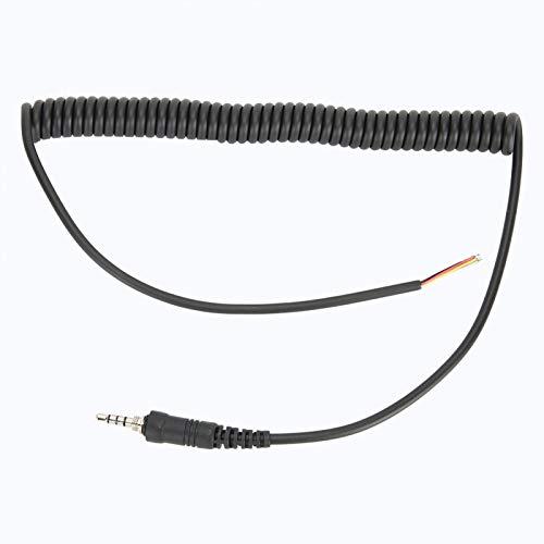 DAUERHAFT Cable de micrófono Instalación Conveniente Línea de Cables de micrófono Material ABS Durable, para micrófono FT-6R / 7R, para Vx-120, para micrófono de Coche, para Vx-127