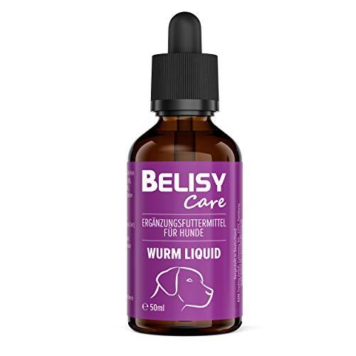 BELISY Wurm Liquid für Hunde - 50 ml - Flüssiges Entwurmungsmittel - Wurmkur - natürlich & verträglich - Wurmmittel mit Walnussöl, Hanföl & Aloe Vera - Tropfen zur Entwurmung von Hunden