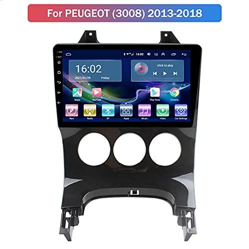 Android 10 Navegación GPS para Peugeot 3008 2013-2018 Reproductor Multimedia para Automóvil con WiFi, Bluetooth, Reproductor Multimedia De Radio para Automóvil,2+32G 4G+WiFi,A:2+32G WiFi+4G