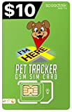 PET Tracker SiM Card   3 in 1 - GSM 4G LTE   for Dog CAT Animal Tracking and Activity Devices   Worldwide 4G LTE Network