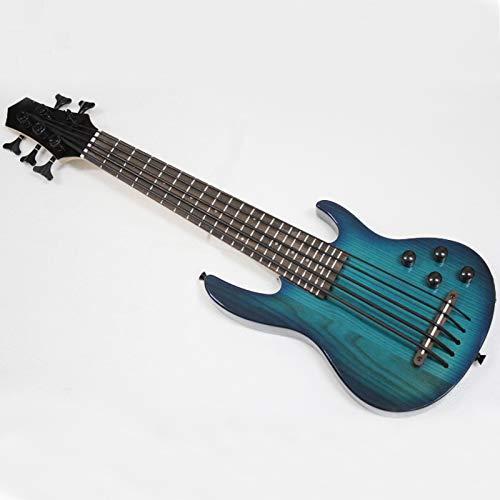 MiNi Ukulele-E-Bass, 5 Saiten, blau