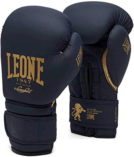 Leone 1947 - Guantes de Boxeo Blue Ed, Unisex, para Adulto, Azul, 10 oz