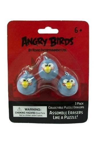 Angry Birds - Puzzle Erasers 3 Pack - BLUE BIRD - 07044 - The In Thing by The In Thing