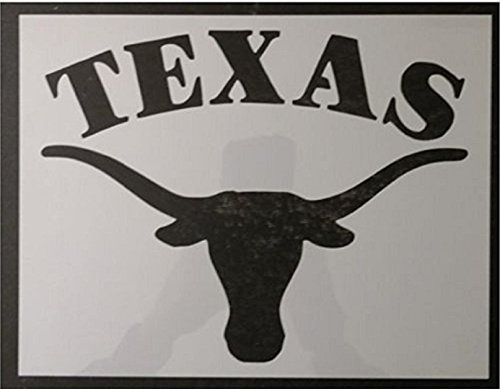 TNS STORE Texas Longhorns Long Horns Steer 11' x 8.5' Custom Stencil