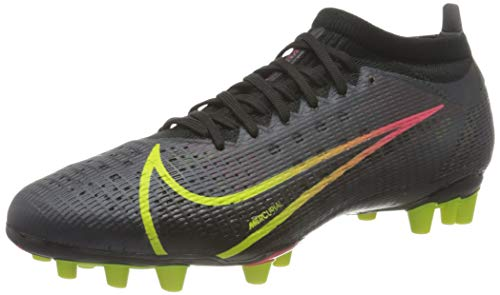 Nike Vapor 14 PRO AG, Scarpe da Calcio Unisex-Adulto, Black/Cyber-off Noir-Rage Green-Siren Red, 45 EU