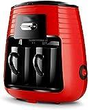 Cafetera de café de la máquina, 450W 0,25 L Máquina de café de filtro de té de la máquina Conjunto de cerámica con 2 Copas del estilo de América automática Ministerio del Interior Cafetera eléctrica,