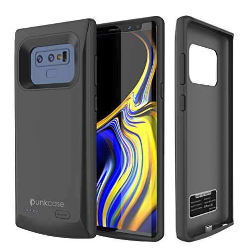 Galaxy Note 9 Battery Case, Punkcase 5000mAH Charger Case W/Screen Protector   Integrated USB Port   IntelSwitch   Slim, Secure and Reliable   Suitable for Samsung Galaxy Note 9 [Black]