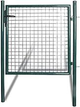 Luangfim Garden Fence Gate, Single Door Fence Gate Powder-Coated Steel Outdoor 39.44in x 59in Landscape Wrought Fencing Ga...
