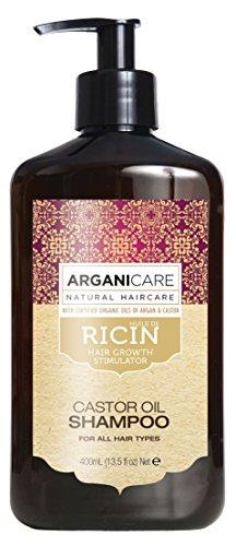 Arganicare Shampooing accélérateur de croissance à l'huile de ricin Bio. 400ml